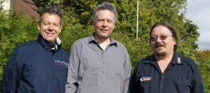 der neugewählte Vorstand: Matthias Windisch, Christian Kubisch, Michael Ceglar
